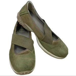Timberland- Green Suede Slip On Sporty Shoe- 6.5